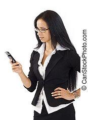 telefonera kvinna, frustrerat