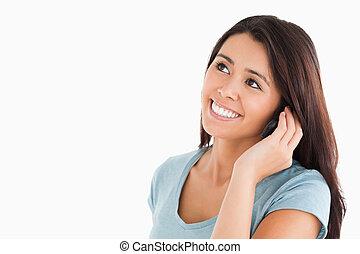 telefonera kvinna, underbar