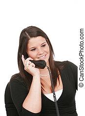 telefonera kvinna, ung