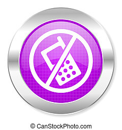 telefones, não, ícone