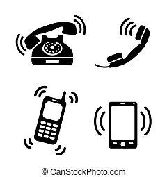 telefones, tocando, cobrança