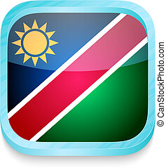 telefono, bottone, bandiera namibia, far male