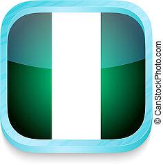 telefono, bottone, bandiera nigeria, far male