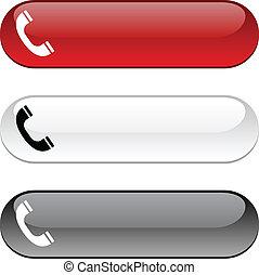 telefono, button.