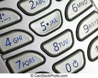 telefono cellulare, cuscinetto, chiave