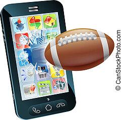 telefono cellulare, palla football americana