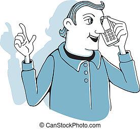 telefono cellulare, uomo