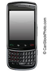 telefono cellulare, vettore, torcia, mora