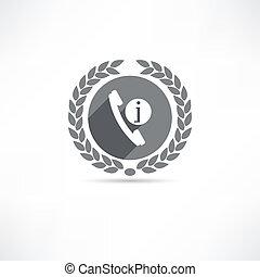 telefono, informazioni, icona