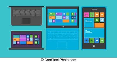 telefono, laptop, tavoletta