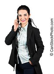telefono mobile, affari donna