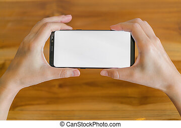 telefono mobile, affari, mano