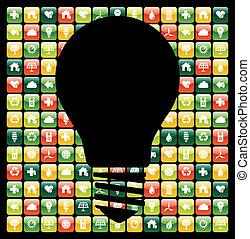 telefono mobile, app, verde, idee