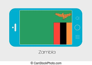 telefono mobile, bandiera zambia