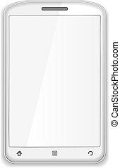 telefono mobile, bianco