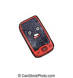 telefono mobile, cartone animato