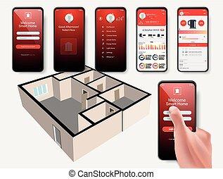 telefono mobile, controlli, far male, casa
