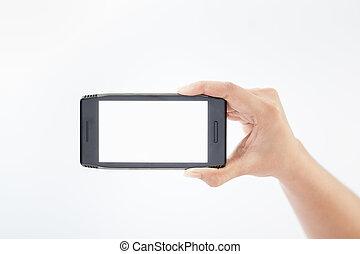 telefono mobile, far male, mano