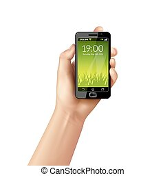 telefono mobile, mano
