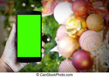 telefono mobile, moderno, mano