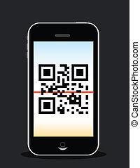 telefono mobile, scansione
