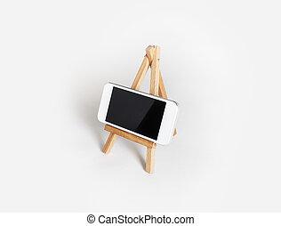 telefono mobile, su, supporto