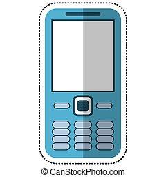 telefono mobile, tecnologia, cartone animato, chiamata