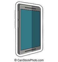 telefono mobile, tecnologia, cartone animato