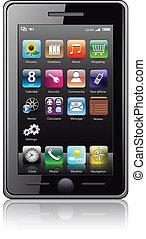 telefono mobile, vector.