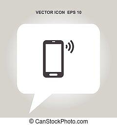 telefono mobile, vettore, icona