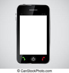 telefono mobile, vettore, illustrazione