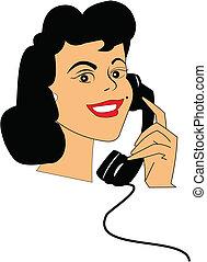 telefono, signora