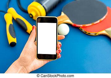 telefono, sport, domanda