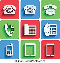 telefono, uggia, icone