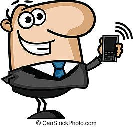 telefono, uomo affari