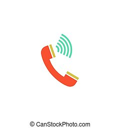 telefono, vettore, chiamata, icona