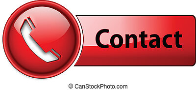 telefoon, contact, button., pictogram