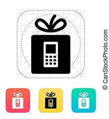 telefoon, icon., cadeau