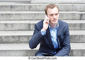 telefoon, man