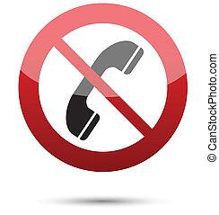 telefoon, niet, staan toe, meldingsbord