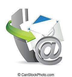 telefoon, op, contacteer ons, post