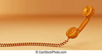 telefoon, reciever., 3d