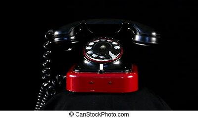 telefoon, retro, lus