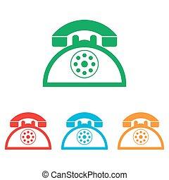 telefoon, retro, meldingsbord