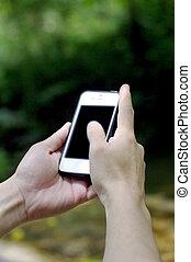 telefoon, smart, natuur