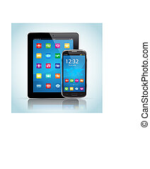 telefoon, tablet, smart