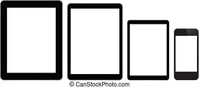 telefoon, tabletten, zakelijk, smart