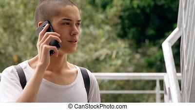 telefoon, trap, beweeglijk, klesten, man, 4k