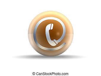 telefoon, witte achtergrond, pictogram