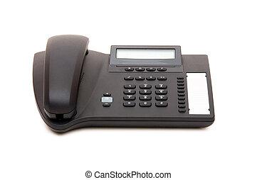 telefoon, witte achtergrond, vrijstaand, kantoor